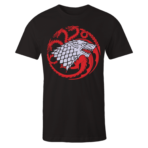 Stark Targaryen Black Cotton Shirt