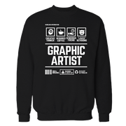 Graphic Artist Handling Black Shirt