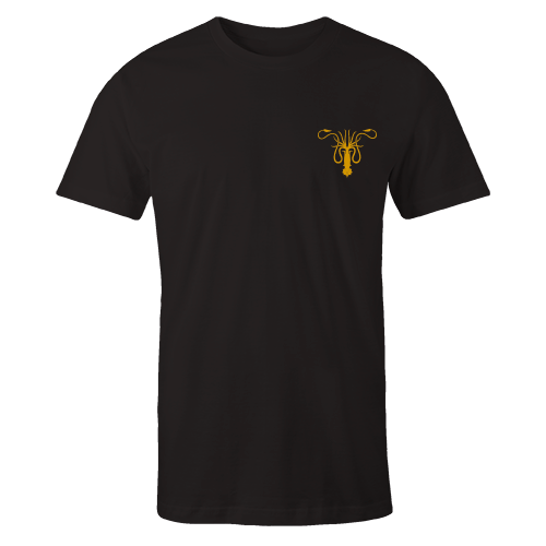 Greyjoy Black Embroidered Cotton Shirt