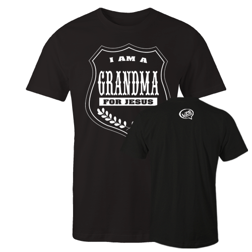 I am a grandma Black Cotton Shirt