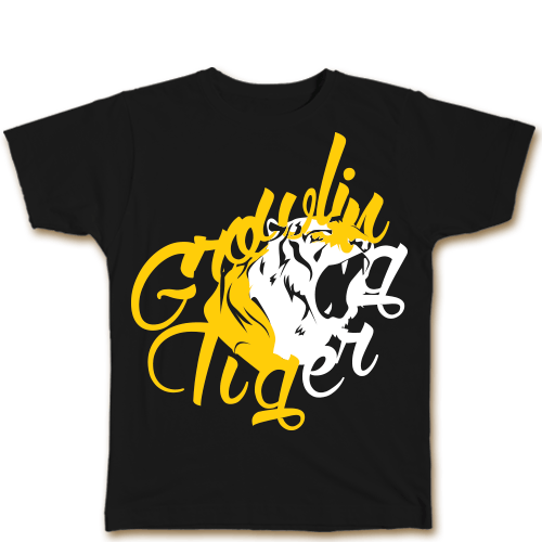 Growling Tiger Black Cotton Shirt