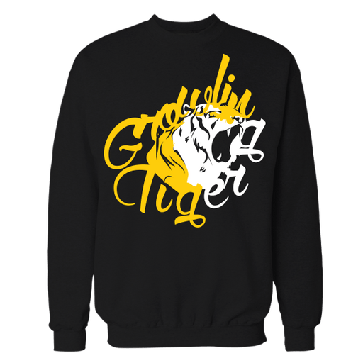 Growling Tiger Black Cotton Sweatshirt