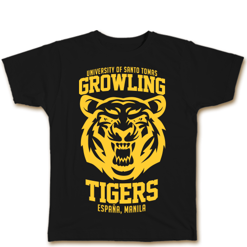 Growling Tigers Black Cotton Shirt