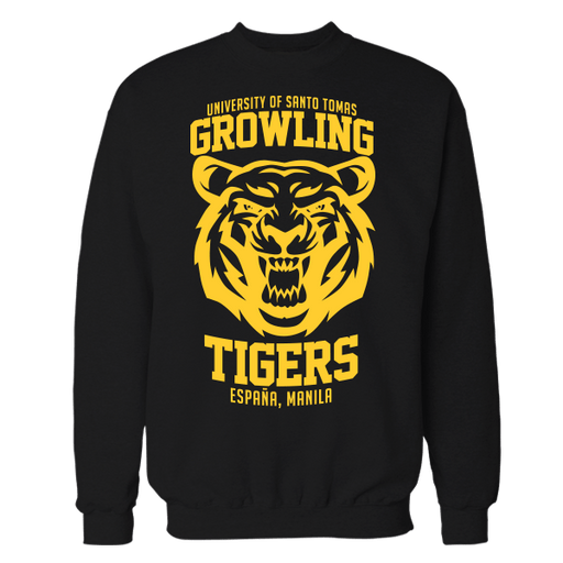 Growling Tigers Black Cotton Sweatshirt