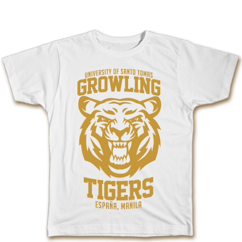 Growling Tigers White Cotton Shirt