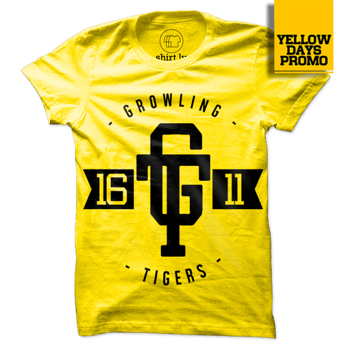 GT LOGO Yellow Cotton Shirt