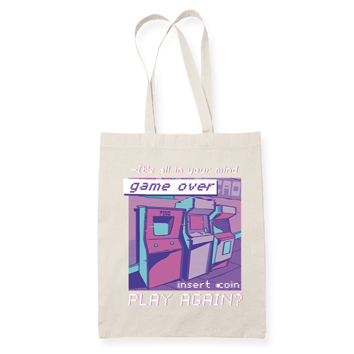 Game Over Wave Sublimation Canvass Tote Bag