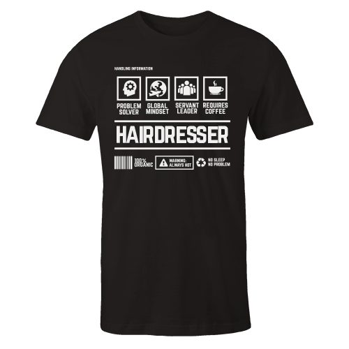 Hairdresser Handling Black Cotton Shirt