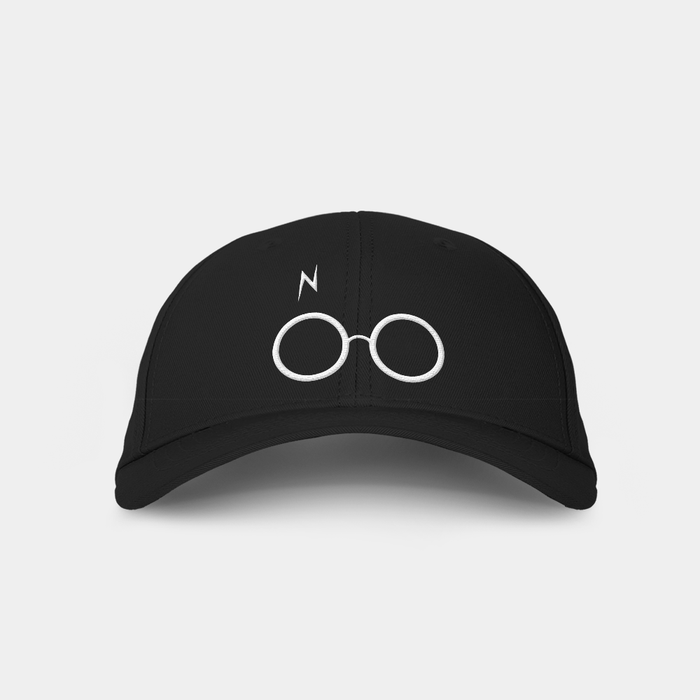 Harry Black Embroidered Cap
