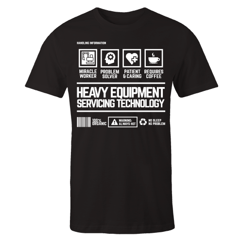 Heavy Equipment Handling Black Shirt