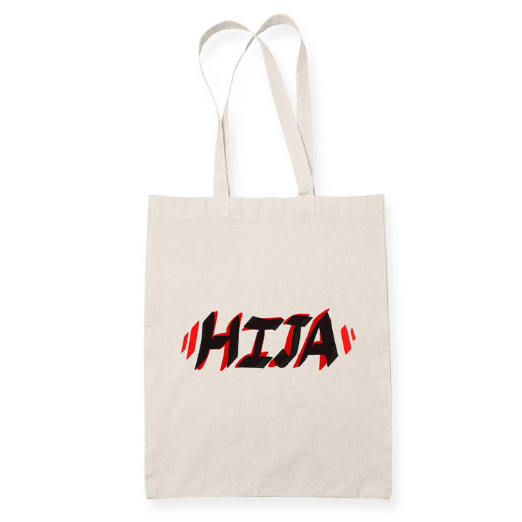 Hija Text Sublimation Canvass Tote Bag