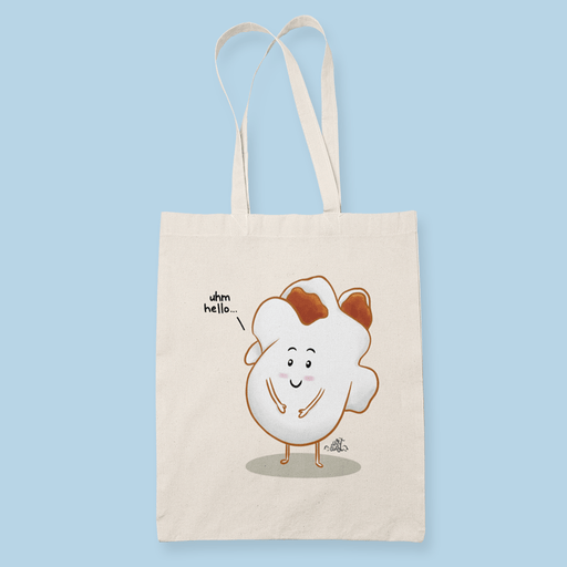Popcorn Sublimation Canvass Tote Bag
