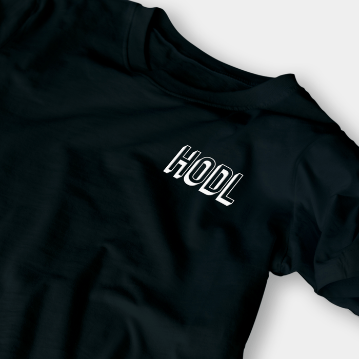 HODL Black Embroidered Shirt