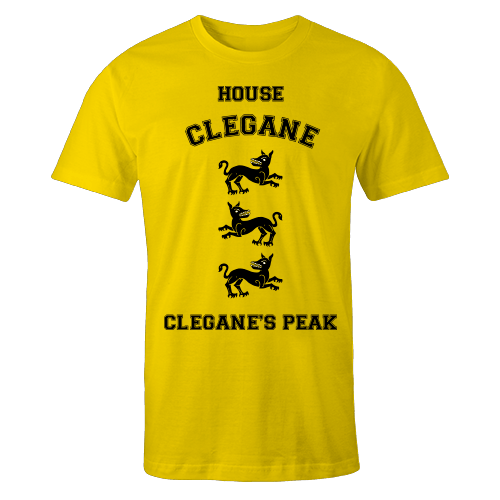 House Clegane Yellow Cotton Shirt