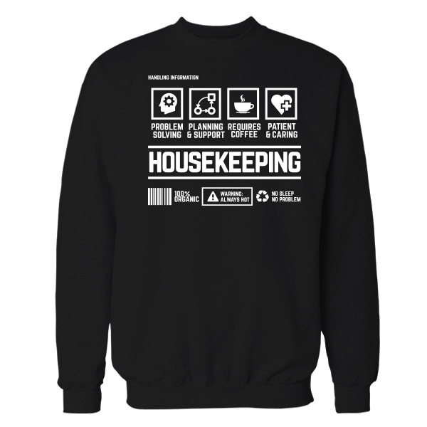 Housekeeping Handling Black Shirt