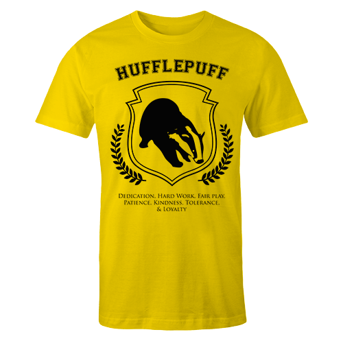 Hufflepuff Yellow Cotton Shirt