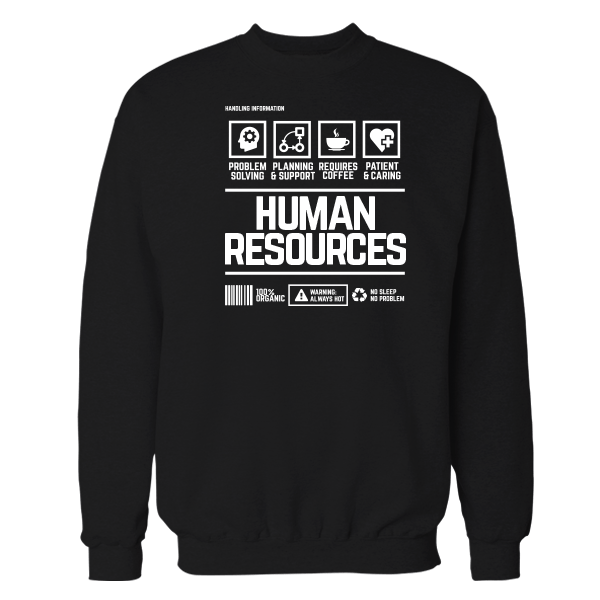 Human Resources Handling Black Shirt