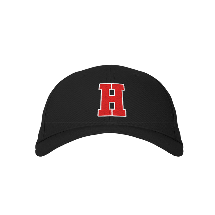 Letter H Black Embroidered Cap