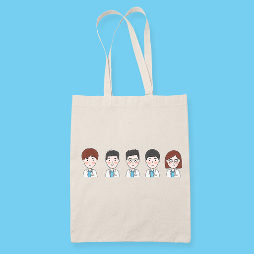 Hospital Playlist Sublimation Canvass Tote Bag