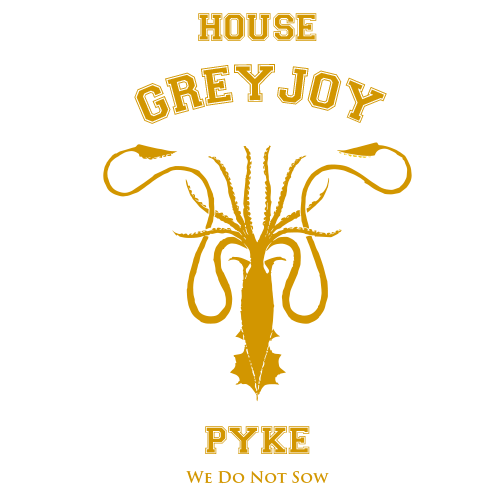 House Greyjoy Black Cotton Shirt