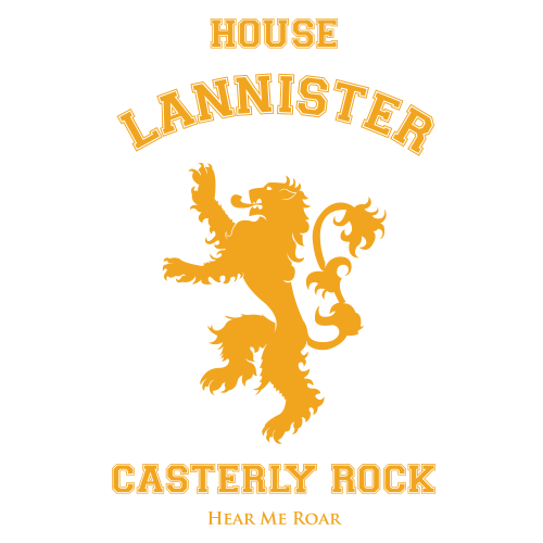 House Lannister Maroon Cotton Shirt