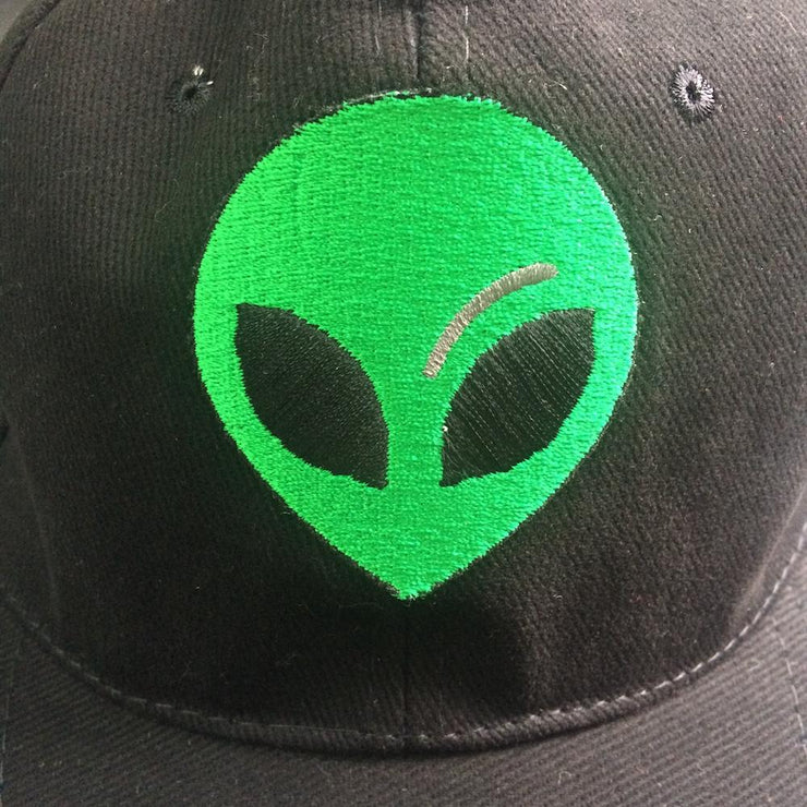 Alien Black Embroidered Cap