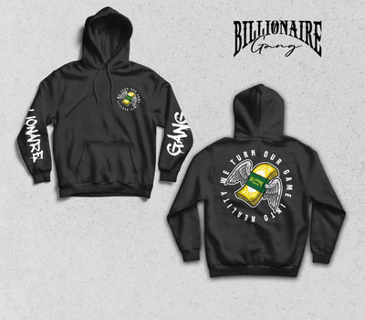Billionaire Gang Black Hoodie of Billionaire Gang Clothing by Von Ordona