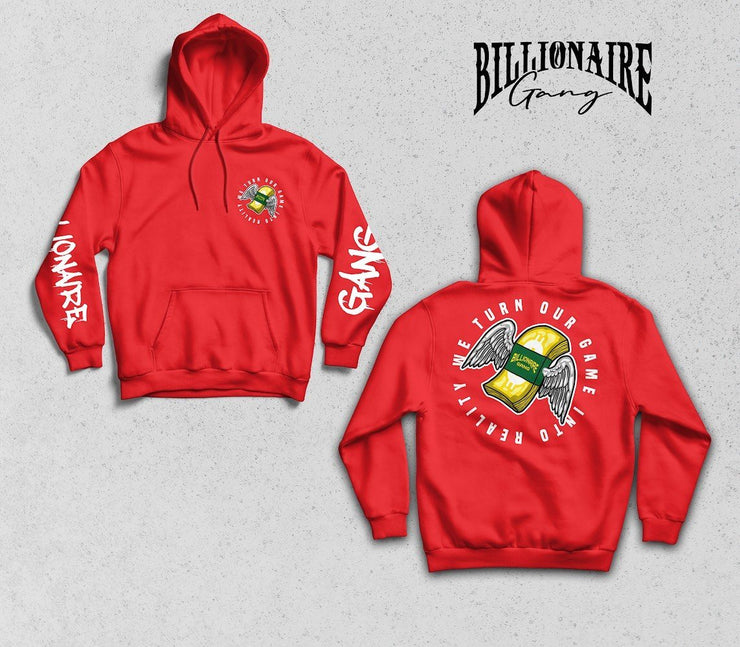Billionaire Gang Red Hoodie of Billionaire Gang Clothing by Von Ordona