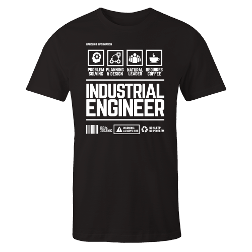 Industrial Engineer Handling Black Shirt