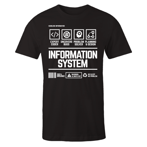 Information System Handling Black Shirt