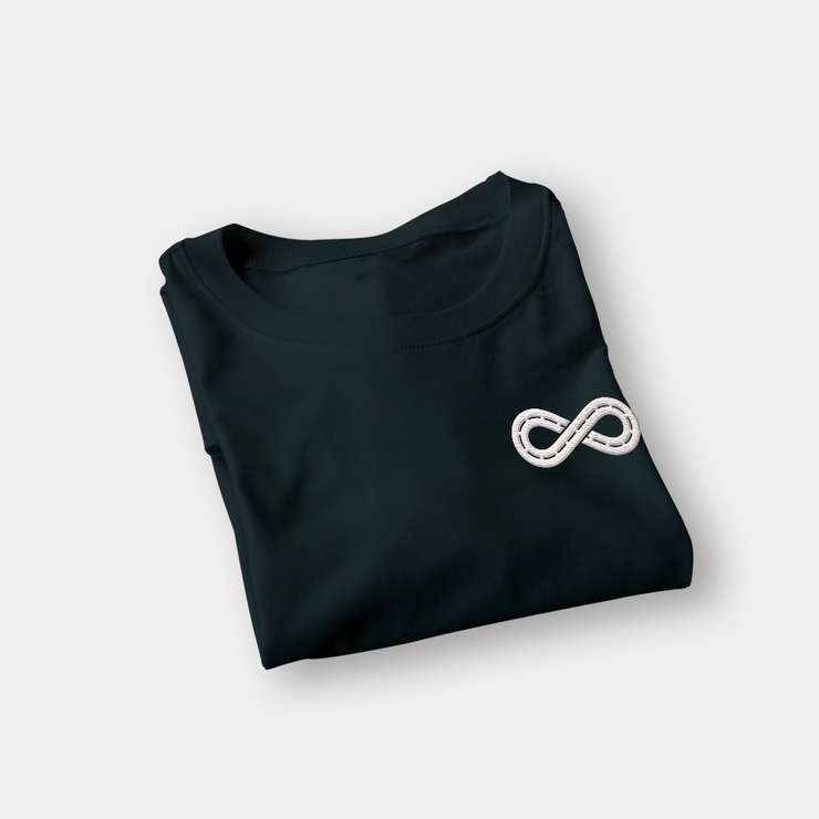 Infinite Black Embroidered Shirt