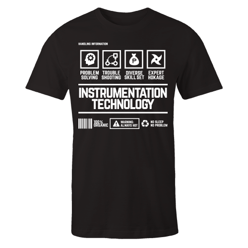 Instrumentation Technology Handling Black Shirt