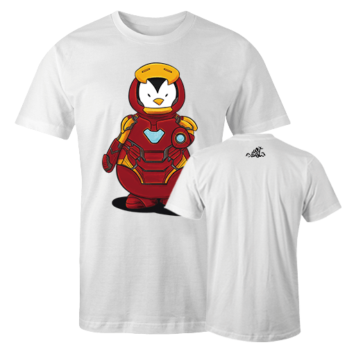 Penguin Comics Mashup v6 Sublimation Dryfit Shirt With Logo At The Back