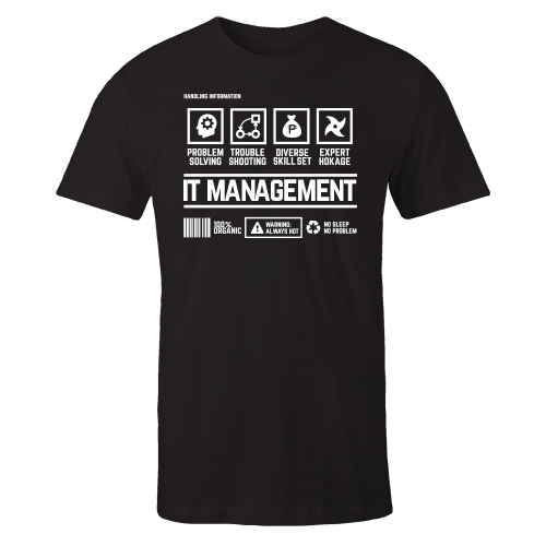 IT Management Handling Black Shirt