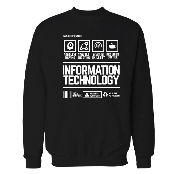 Information Technology Handling Black Shirt