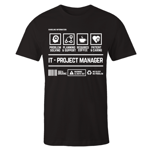 IT Project Manager Handling Black Cotton Shirt