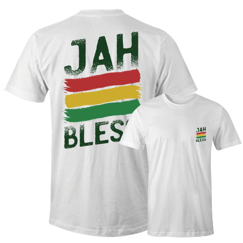 Jah Bless Sublimation Dryfit Shirt Front and Back Print