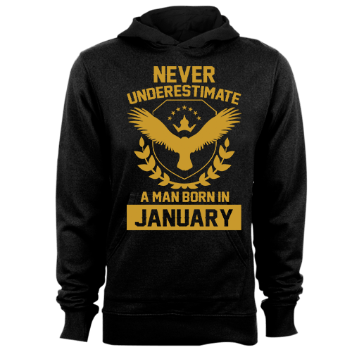 Never Underestimate A Man Born In January Cotton Shirt