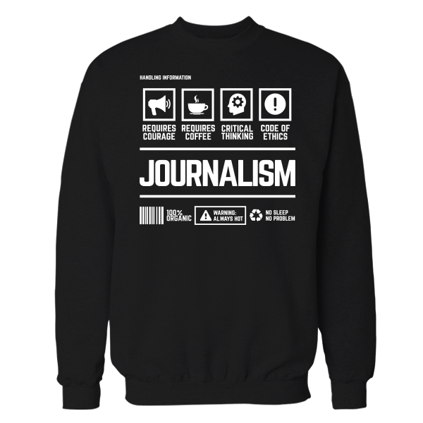 Journalism Handling Black Shirt