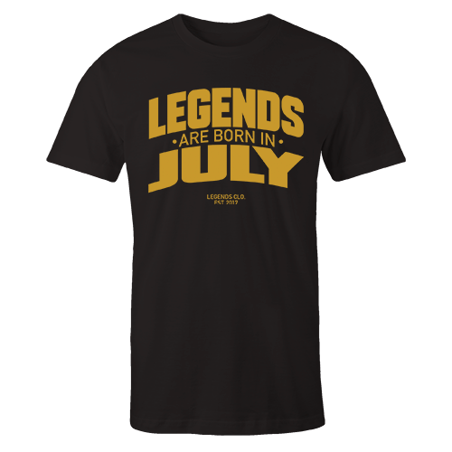 Legends are Born in July v8 G5 Cotton Shirt