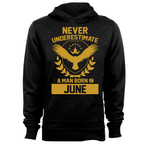 Never Underestimate A Man Born In June Cotton Shirt