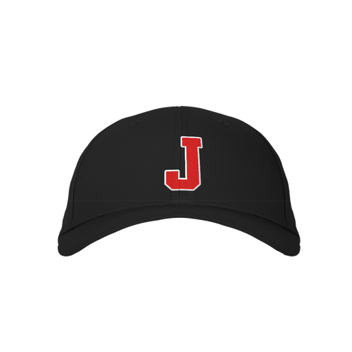 Letter J Black Embroidered Cap