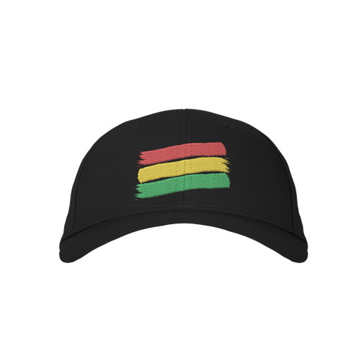 Reggae 3 Stripes Black Embroidered Cap