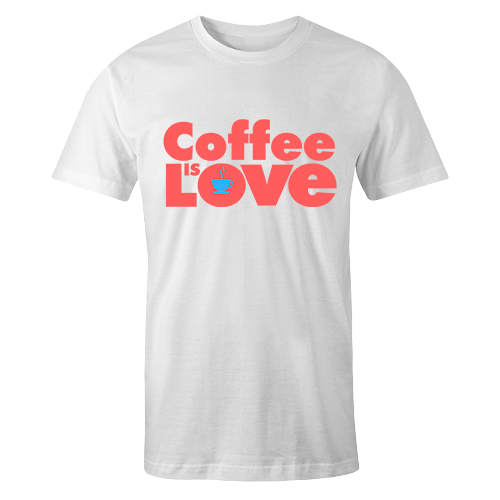 Kape Is Love White Cotton Shirt