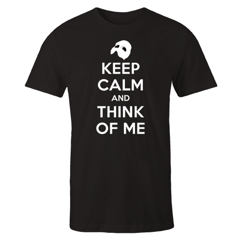 Keep Calm & Think of Me Black Cotton Shirt