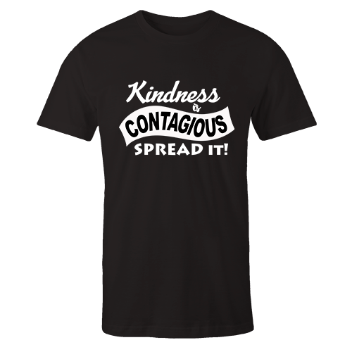 Contagious Kindness Black Cotton Shirt