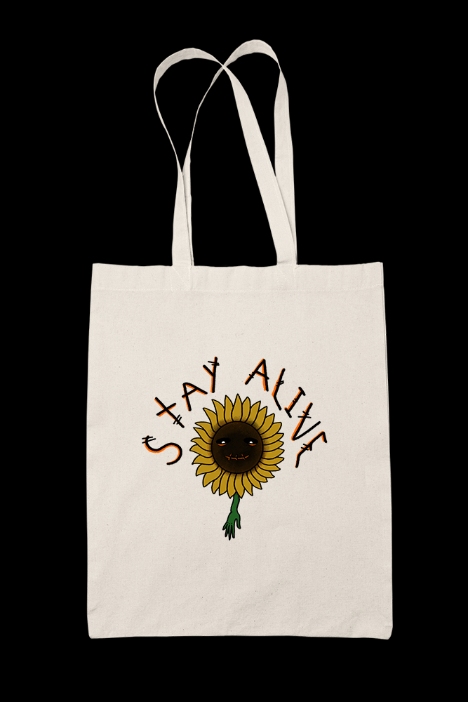 Stay alive Sublimation Canvass Tote Bag