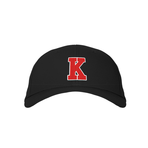 Letter K Black Embroidered Cap