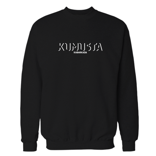 Kamusta Kabarkada Black Cotton Sweatshirt