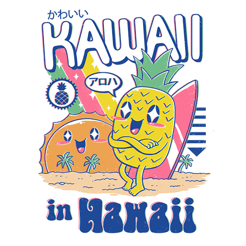 Kawaii in Hawaii Sublimation Dryfit Shirt